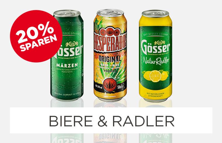 -20% auf ausgewählte Biere & Radler