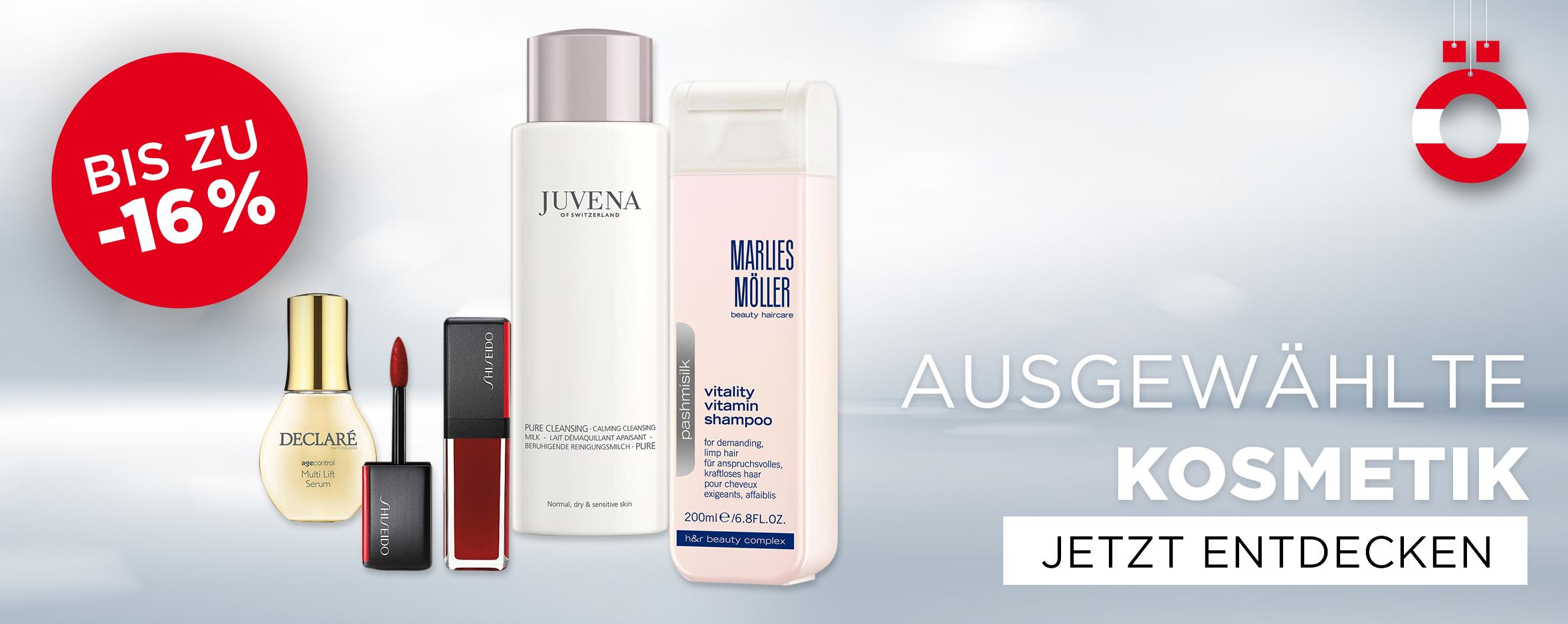 Kosmetik Aktion - Shiseido, Declaré, Marlies Möller, Juvena