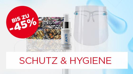 Bis zu 45% sparen auf Schutz & Hygiene