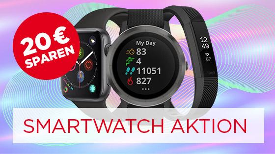 20 € sparen bei Smartwatches & Fitnesstracker