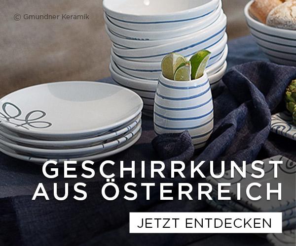 Geschirrkunst Österreich - Gmundner Keramik, Augarten Porzellan