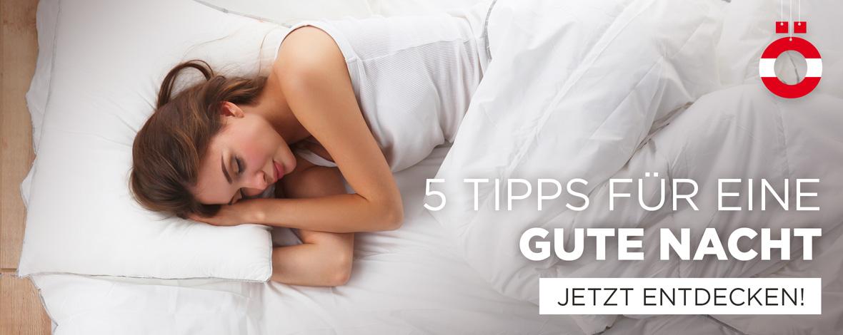 5 Tipps für einen gesunden Schlaf