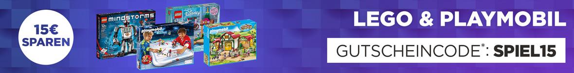 15€ Rabatt auf Lego & Playmobil