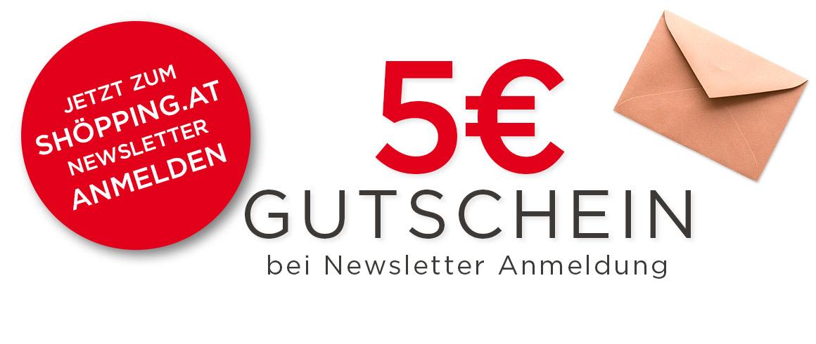 5€ sparen bei Newsletter Anmeldung - shöpping.at