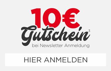 Zum Newsletter anmelden und 10 € Gutschein holen