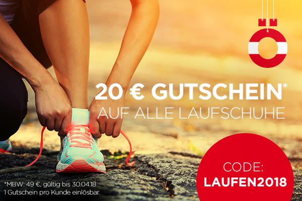 20 € sparen und Laufschuhe holen