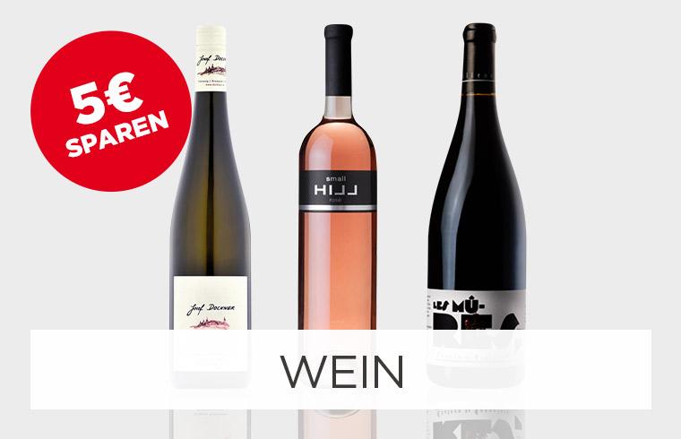 5€ sparen auf Wein