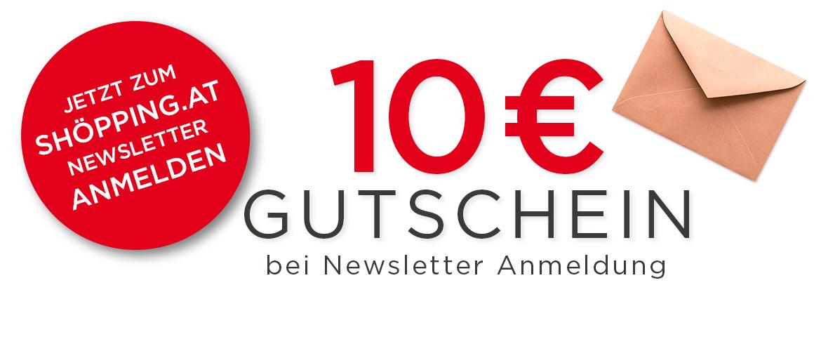 10€ sparen bei Anmeldung zum shöpping.at Newsletter