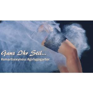 Girly Go Garter Strumpfband mit Handtasche schwarz