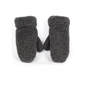 Fäustlinge aus Schafwolle Grau XL