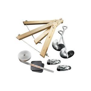 Slackline Tools Frameline Set 10m Slacklinelänge - 10 Meter, Slacklinebreite - 30 mm, Slacklinefarbe - Weiss,