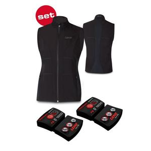 Lenz Products Set of Heat Vest 1.0 Women + Lithium Pack rcB 1800 Westenfarbe - Black, Westengröße - M,