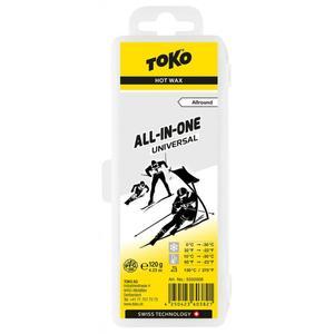Toko All-in-one Hot Wax universal 120g Wachsart - Blockwachs, Wachs Toko - Universalwachs, Wachsqualität - Universal/Allroundwachs, Einsatzbereich - Alpin, Wachsfarbe - Universal/Transparent,