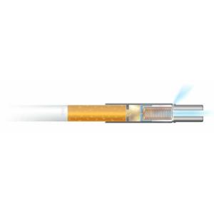 Rauchredutkions- und Entwöhnungshilfe RE80, nachhaltig, wiederverwendbar, medizinischer Kolben, Filterhalter, Nikotin, 1 STK