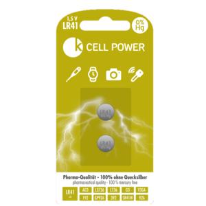 Batterie f. Digital - Fieberthermometer, 2Stk. LR41 (AG03, 192, L3736, L736, G3, V3GA, GP92A, 392, SR41W, 92A)