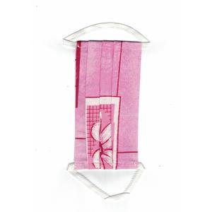 Mund-Nasen-Schutz, Leinenmaske für Erwachsene, Rosa Orchidee 1 Stk. FFP 0, Gummiband, Wiederverwendbar, Waschbar
