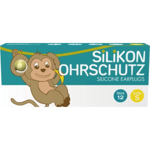Silikon Ohrstöpsel Kinder (Ohrschutz, Gehörschutz, Geräuschschutz), gelb, Small, 12 STK