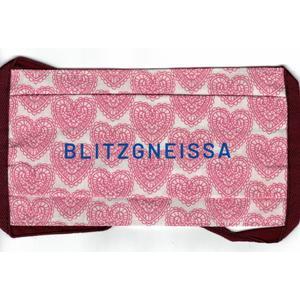 Mund-Nasen-Schutz, Baumwollmaske für Erwachsene, 1 Stk. FFP, Wiener Schmeh, Spruch (BLITZGNEISSA), Wiederverwendbar, Waschbar