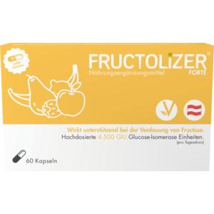 FRUCTOLIZER Forte MSR Kapseln Original, Fructoseverdauung, 1.500 GIU Glucose-Isomerase-Einheiten, vegan, 60 STK