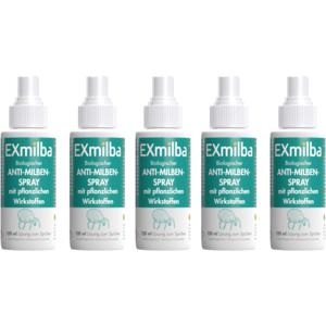 EXmilba - Anti-Milben-Spray, hochwirksam, biologisch, vegan, Milben Entfernung, Anti Allergie