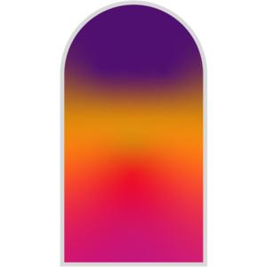 """Glasnagelfeile Original """"Regenbogen"""", 9 cm, lila, orange, rot, rosa"""