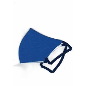 Mund-Nasen-Schutz, Baumwollmaske für Erwachsene, Blau 1 Stk. FFP 0, Gummiband, Wiederverwendbar, Waschbar