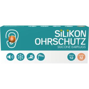 Silikon Ohrstöpsel Erwachsene (Ohrschutz, Gehörschutz, Geräuschschutz), orange, Medium, 12 STK