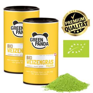 Green Panda Bio Weizengras Doppelpack 2x125g aus 100% österreichischem Weizengras