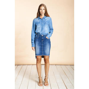 Lou Skirt Blue Denim - Blue River