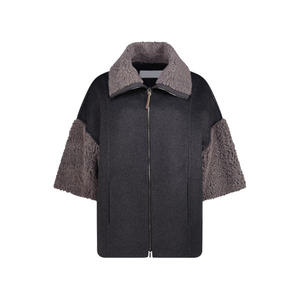 Wide fit shearling jacket