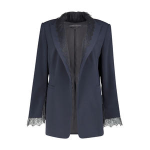Lace detailed formal blazer