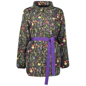 Floral print polo neck jacket