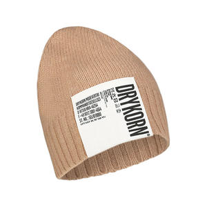 Ribbed nude beanie