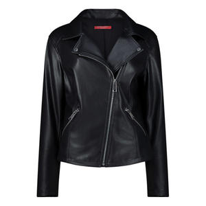Midnight black faux leather jacket
