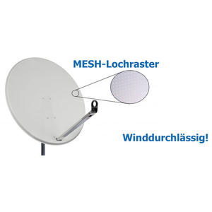 Satmedia Click/Clack Profi MESH 100cm Hellgrau