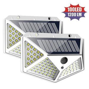 LED-SOLAR LAMPE mit 100 LED, SENSOR, 4 Paneele 2Stück Packung