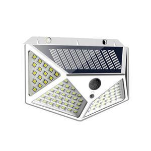 LED-SOLAR LAMPE mit 100 LED, SENSOR, 4 Panele