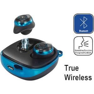 Renkforce RF-BTK-200 Bluetooth® Kopfhörer In Ear Headset Blau-Schwarz