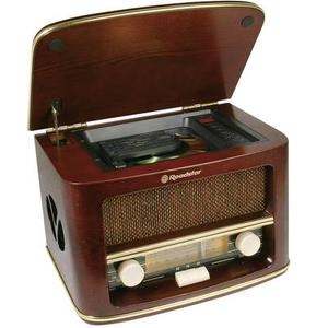 UKW Tischradio Roadstar HRA-1500MP AUX, CD, MW, UKW Holz