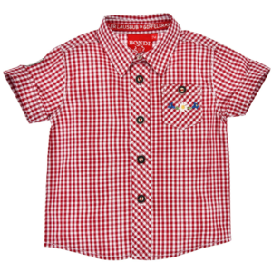 Bondi Trachtenhemd kariert red/white plaid 91375 Gr.62