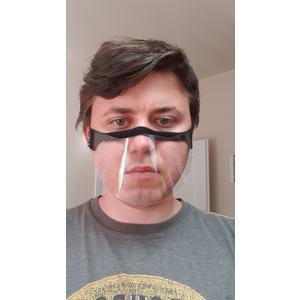 1x Face-Shield Model A Gesichtsschutz, Spuckschutz, Gesichtsvisier mit Gummiband Anti-Beschlag