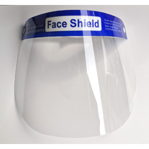 20x Face Shield Gesichtsschutz, Spuckschutz, Gesichtsvisier mit Gummiband Anti-Beschlag