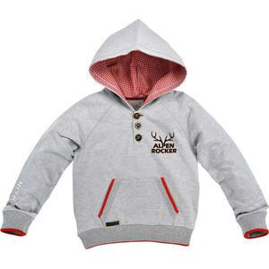 """Bondy Kids Sweatshirt """"Alpenrocker"""" grau-melange Gr. 104"""