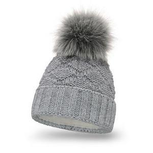Damen Strick Mütze P Nr.3 Hell Grau