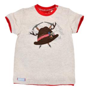 Bondi T-Shirt halbarm geringelt ´Trachtenhut´ stripe beige/weiss 91371 Gr.62