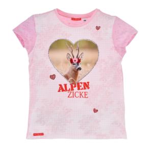 Bondi T-Shirt halbarm ´Alpen Zicke´ karo rose/weiss 26076 Gr.104
