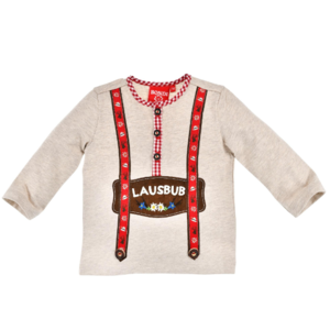 Bondi T-Shirt langarm ´Lausbub´ beige-melange 91374 Gr.62