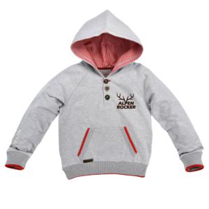 Bondi Sweatshirt ´Alpenrocker´ grey-melange 29924 Gr.116