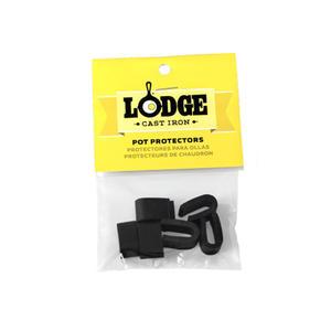 Lodge Topf Protektoren, 6 Stück, schwarz