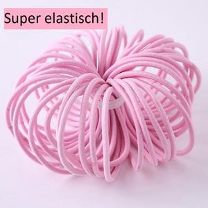 Haargummi rosa 20 Stück elastisch